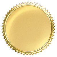 Gold Burst Award Seals B56-74001