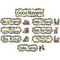 Good Manners Mini Bulletin Board Set B54-4297