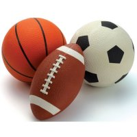 Inflatable Sports Balls Set of 3 B90747
