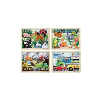 Jigsaw Puzzle Kit 12 pcs 4 Pack W/Tray MD-35411