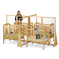 Quad See Thru Crib Divider Natural 1653JC