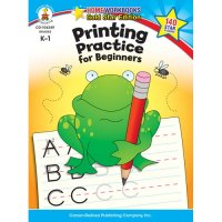 K-Gr 1 Printing Practice for Beginners Home Workbook (A15-104349)