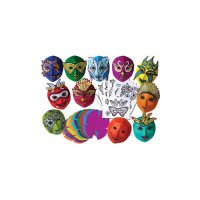 Mardi Gras Colour Diffusing Masks R52081