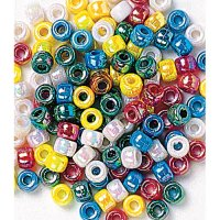 Multi-colour Metallic Pony Beads 500 pc CK-3547