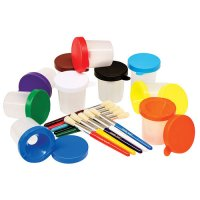 No Spill Paint Cups & Brushes 10 Pack B14-5104