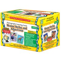 Nouns Verbs & Adjectives Photo Learning Cards 015-D44045