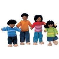 Plan Toys African American Doll Family B19-X74160