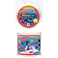 Jumbo Circular Washable Pads, Primary Colours, 4 Colours, 6""