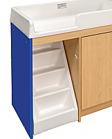 TODDLER WALK UP CHANGING TABLE (FULLY ASSEMBLED) ROYAL BLUE/MAPLE 8534A