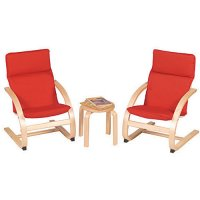 Red Kiddie Rocker Chair Set G6400