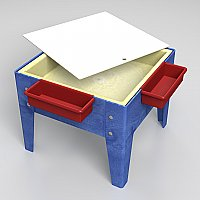 Toddler Mite Sensory Table with Tray & Lid Blue Frame S8018