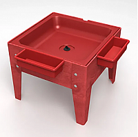 Toddler Mite Sensory Table Red Tub with Red frame S8318 RDRD