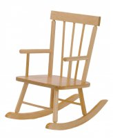 "ROCKING CHAIR  MADE WITH SOLID MAPLE SEAT HEIGHT 10"" BJ-410"