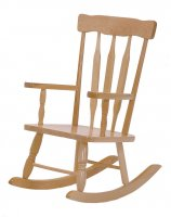 "Colonial Child's Rocker - SOLID MAPLE SEAT HEIGHT 10"" BJ-425"