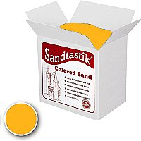 Sandtastik Classpack Colored Sand,Fluorescent Orange 25Lbs SS1151