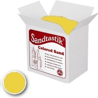 Sandtastik® Classpack Colored Sand, Yellow [SS1151Y] 25 Lbs