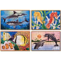 Sea Life In A Box Puzzle W/Tray D54-3795
