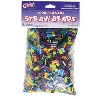 Striped Straw Beads 1000 pcs CK-3607
