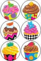 Bake Shop™ Cupcakes superSpots® Stickers Value Pack T-46920