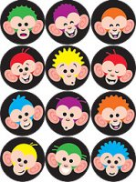 Merry Monkeys superSpots® Stickers Value Pack T-46923