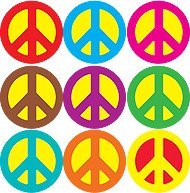 Peace Signs superSpots® Stickers Value Pack T-46924