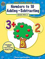 Early Math Skills: Numaber to 10 Adding+Subtracting [TCR8105]