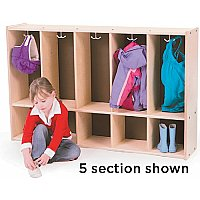 TODDLER LOCKER - BRICH PLYWOOD 5 SECTION TRJ-S392-5