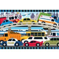 Traffic Jam Floor Puzzle 24 pcs D54-24421