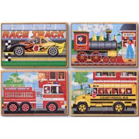 Vehicles In A Box Puzzle w/Tray D54-3794