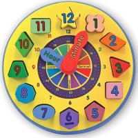 Wooden Shape Sorting Clock Melissa & Doug MD10159