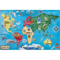 World Map Floor Puzzle D54-446