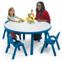 "BaseLine® Round Tables Measures 48""Dia. x 12""H-24""H AB744D"