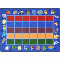 "Alphabet Phonics™ 5'4"" x 7'8 Rectangle JC1624C"