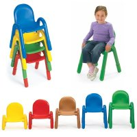 "BaseLine® Stacking Chairs 7""Seat hight (Color Option Available) AB7907"