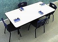 "DRY-ERASE MARKERBOARD ACTIVITY TABLE 30"" X 72"" ADJUSTABLE HEIGHT M53072"