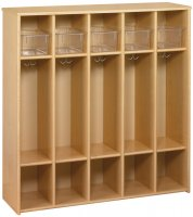 Eco™ 5 Compartment Locker w/ Trays - Preschool Size [3067A73-TOT]