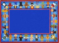 Children Of Many Cultures Rug 5'4 x 7'8  JC1622C