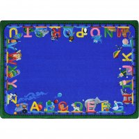 "Choo Choo Letters 10'9"" x 13'2""7' Rectangle JC1925G"