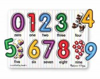 See-Inside Numbers Peg Puzzle  Item MD- 3273