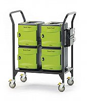 Tub2 Cart with 4 Premium Tech Tubs Holds Up To 24 Devices FTT724