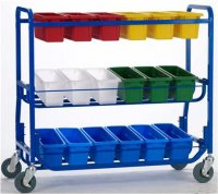Library on Wheels™ with 18 small tubs  LW430-18