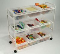 Multi-Purpose Cart with clear open tubs CC0059-C