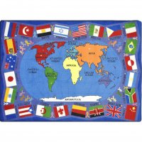 Flags of the World Classroom Rug 7'8 x 10'9 Rectangle JC1444D