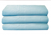 Blue Gingham Toddler Cot Sheet F-CSTSBG12