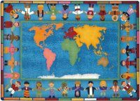 Hands Around the World Classroom Rug 5'4 x 7'8  JC1488C