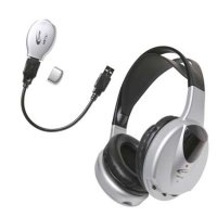 Infrared Stereo/Mono Headphone with transmitter Headphones (Wireless)