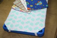 "Flannelette Cots Sheet  Toddler Size 22"" x 40""   AL-805"