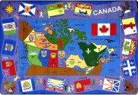"Flags of Canada 5'4"" x 7'8""  Rectangle JC1455"