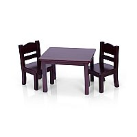 Guidecraft™ Doll Table & Chair Set – Espresso G98115