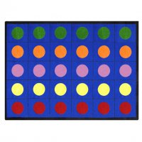 Lots of Dots Kids Area Rug 10'9 x 13'2 - 30 Dots Blue JC1430G